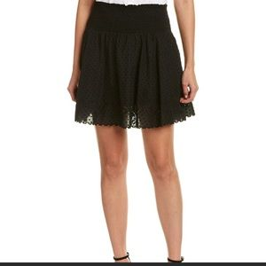 The Kooples Smocked Mini Skirt
